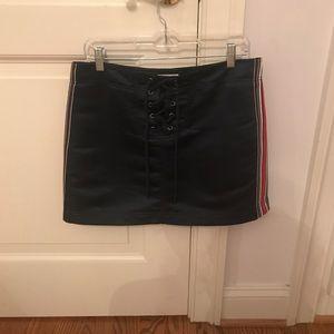 Silence + Noise silk track mini skirt